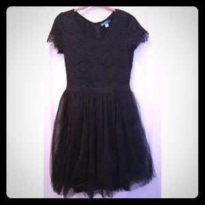 Pim + Larkin LBD Black Lace and Tulle Dress